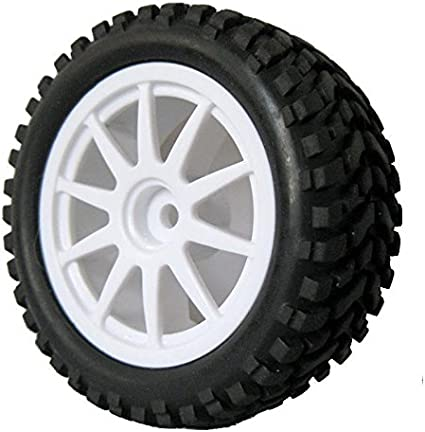 4x 7004 RC model car High Grip Rubber Tires fit 1//10 On Road or 1//16 Off road