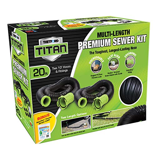 Titan 20 Foot Premium RV Sewer Hose Kit - Thetford ()