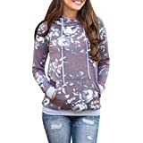 HOT ! Women Blouse, Ninasill Exclusive Floral Loose Hoodie Sweatshirt Pullover Tops Blouse