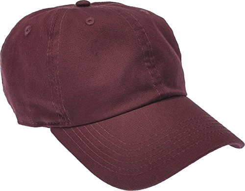 Hand By Hand Aprileo Solid Cotton Cap Washed Hat Polo Camo Baseball Ball Cap [03 Burgundy](One Size)