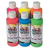 neon colour paints - S&S Worldwide 8-oz. Color Splash! Neon Acrylic Paint (set of 6) (set of 6)