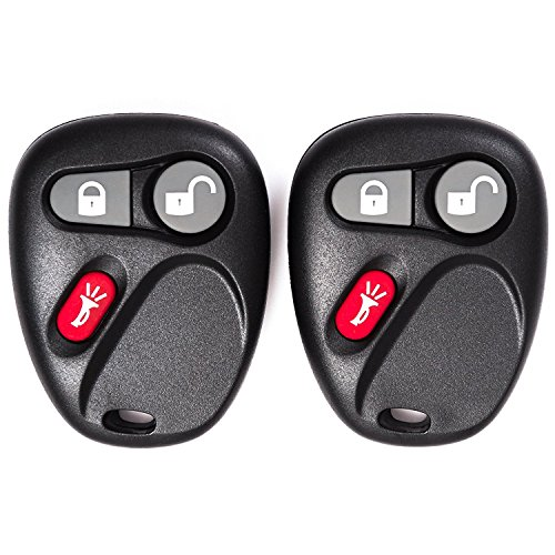 KEYO1E Keyless Entry Remote Control Car Key Fob for Oldsmobile GMC Chevrolet Isuzu Buick 15051014 15008008 15008009 MYT3X6898B (2 Yr Warranty) of 2 (Envoy Car Gmc 2006 06)