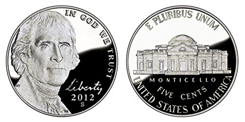 2012 S Proof Jefferson Nickel PF1