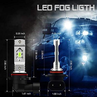 JDM ASTAR Super Bright High Power H10 9145 9140 9050 9155 LED Fog Light Bulbs, Ice Blue: Automotive