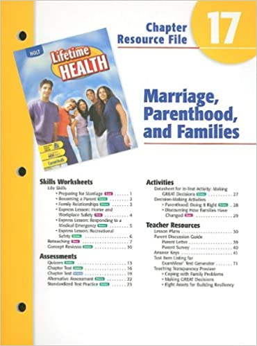 Holt Lifetime Health Chapter 17 Resource File: Marriage ...