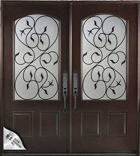 Exterior Front Entry Double Valencia Wood Door