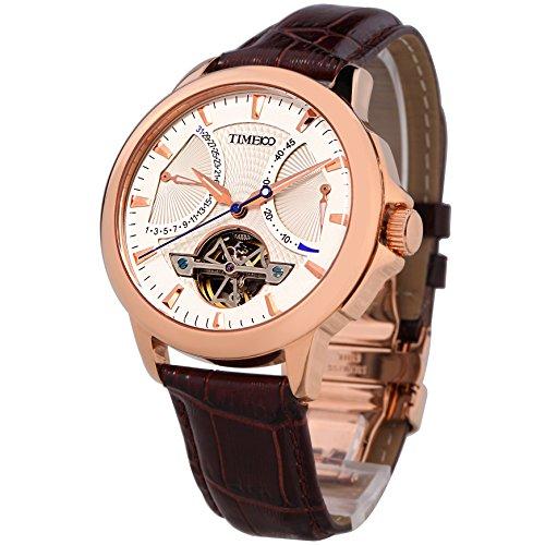 Time100 ナビゲーター・シリーズ フライホイール型 高級機械式 夜行付 オートマチック メンズ腕時計 #W70035G.01A