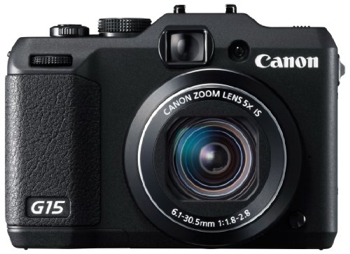 Canon Digital Camera PowerShot G15 12.1MP F1.8 5x Optical Zoom PSG15 - International Version (Canon G15 Camera)