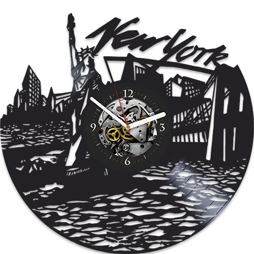 new york vinyl wall clock new year gift for husband wall clock modern