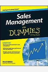 Sales Management For Dummies Kindle Edition