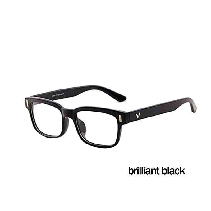 cad0c90c4721a BuyWorld Classic V-Shaped Box Eye Glasses Frames Brand for Men New Women  Computer Frames Eyewear Vintage Armacao Oculos De Grau  Amazon.in  Clothing    ...