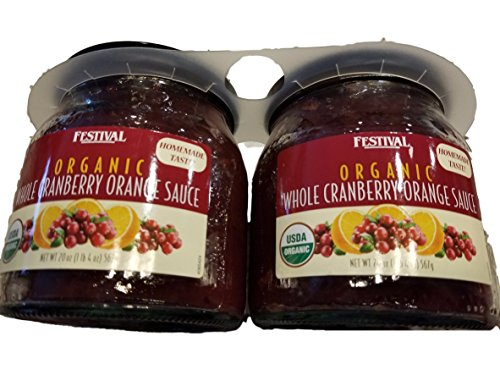 Festival Organic Whole Cranberry Orange Sauce (2x20oz) Whole Cranberries