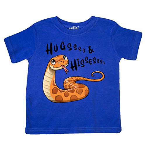 inktastic - Hugs and Hisses- Cute Snake for Toddler T-Shirt 5/6 Royal Blue 2e784]()
