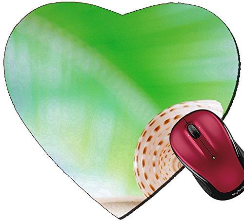 Liili Mousepad Heart Shaped Mouse Pads/Mat ID: 22907123 sea shell with palm leaf beach and seascapee shallow dof