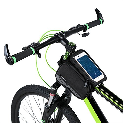 Allnice 3 in 1 Design Waterproof Cycling Bike Bicycle Front Bag Top Tube Frame Bag Pannier Double Pouch Bike Bicycle Accessory for 5.7 inches Cellphone - Gear Bike Triathlon