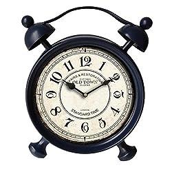 13.5 in. Table Clock in Dark Blue