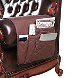 FlyingBean Anti-Slip Armrest Caddy Pocket Organizer for Sofa Couch Chair Recliner Loveseat, Storage for Phone, Book, Magazines, Armchair Remote Control Holder, 35 x 17 inches(Coffee)