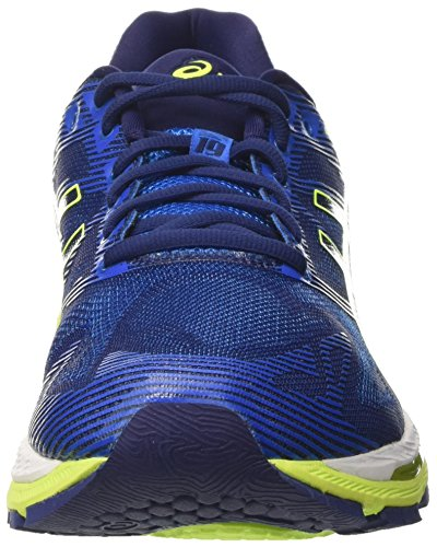 Asics Gel-Nimbus 19, Scarpe da Corsa Uomo Blu (Indigo Blue/Safety Yellow/Electric Blue)