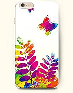OFFIT iPhone 6 Plus Case 5.5 Inches Amazing Butterflies and Leaves