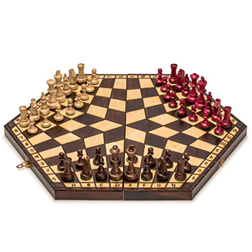 Husaria Wooden Three Player Chess Now $25.05 (Was $64.89)