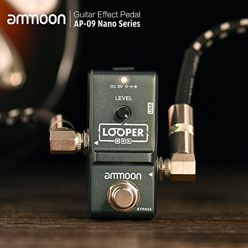 ammoon AP-09 Nano Loop Electric Guitar Effect Pedal Looper True Bypass Unlimited Overdubs 10 Minutes Recording with USB Cable by ammoon (Image #6)