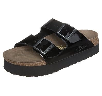 38c73b7063e Birkenstock Papillio Arizona Sandals Patent Black Platform 363903 (3 ...