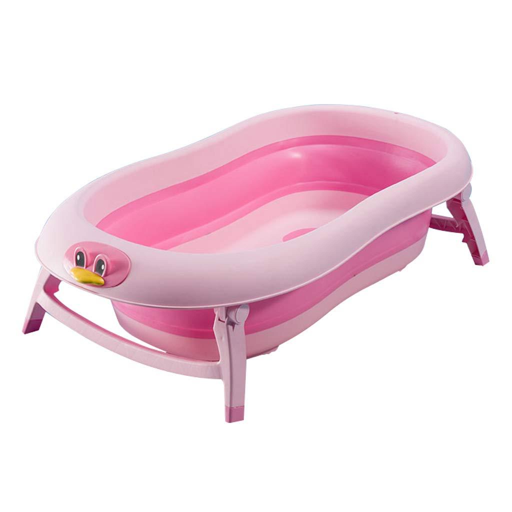 GY Kinderwanne Faltbar Tragbares Baby Baden Badewanne Kunststoff Isolierung Kann Sitzen Und Liegen Neugeborenes Zuhause Schwimmbadfaß Rosa, 88  48  24,5 cm (Farbe   Rosa)