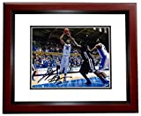 Autographed Jahlil Okafor Picture - 8x10 MAHOGANY CUSTOM FRAME 2015 Champion - PSA/DNA Certified - Autographed College Photos