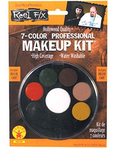 (7 Color Professional Makeup Kit Reel F/X Halloween Costume)
