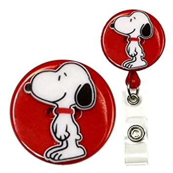 Amazon.com: Snoopy inspirado decorativo ID Badge Holder ...