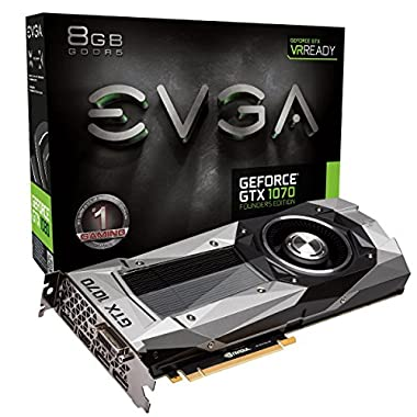 EVGA GeForce GTX 1070 Founders Edition Graphic Card 08G-P4-6170-KR
