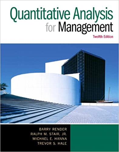 Quantitative Analysis For Management Th Edition Barry Render