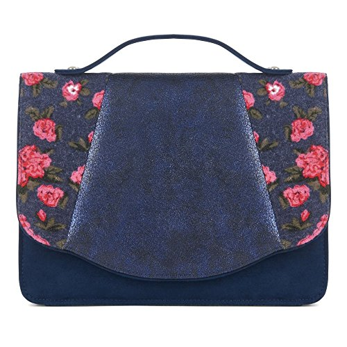 Ruby Shoo Belfast Blue Womens Hand Clutch Bag