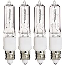 (Pack Of 4) Q75CL/MC - 75 Watt JD T4 E11 Mini Candelabra Base 120V Clear Light Bulbs