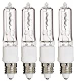 (Pack Of 4) Q100CL/MC - 100 Watt JD T4 E11 Mini Candelabra Base 120V Clear Light Bulbs