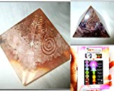 Exquisite Two (2) Amethyst & Rose Quartz Chakra Orgone Pyramid 1 each Best Offer Free Booklet Jet International Crystal Therapy Crystal Gemstones Copper Metal
