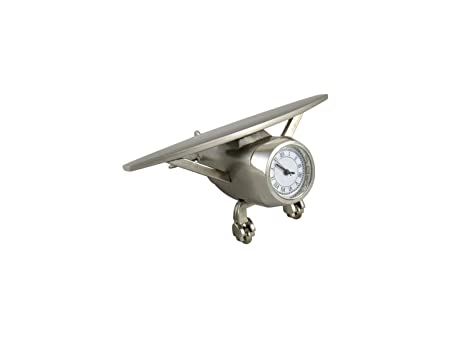 GoldGiftIdeas Fighter Plane Table Clock for Office, Office Desk Decor, Corporate Gift for Employees