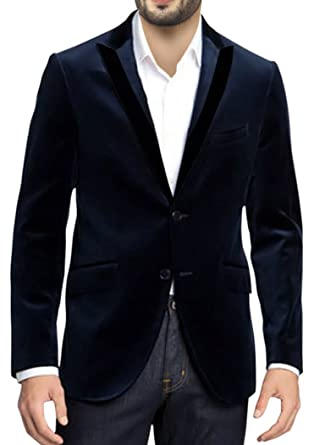 ed1b70757 INMONARCH Mens Slim fit Casual Navy Blue Dinner Jacket Notch Lapels ...