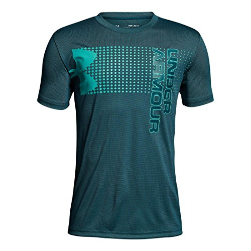 Under Armour Kids Boy's Crossfade Tee (Big Kids) Tourmaline Teal/Tourmaline Teal/Teal Punch Small by Under Armour (Image #1)