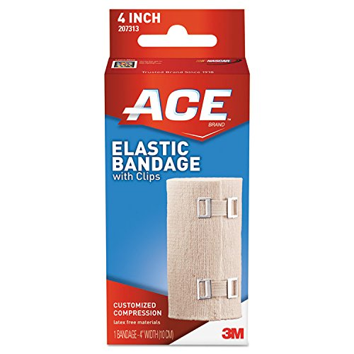 (ACE 207313 Elastic Bandage with E-Z Clips, 4