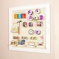 Annie Craft Room Wall Mount Framed Peg Board