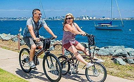 MERRYHE Bicicleta eléctrica Plegable Mountain Road E-Bike Fold Bicycle Adulto 26 Pulgadas City Power Bicycle 48V ...