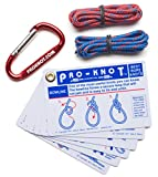 Knot Tying Kit | Pro-Knot Best Rope Knot Cards, two practice cords and a carabiner