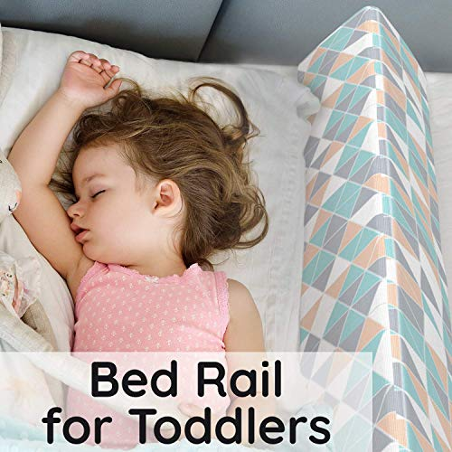 Bed Rails for Toddlers - Toddler Bed Rail Keep Them Safe at Night from Falling Out of Bed - Includes Belt with Clip to Hold in Place