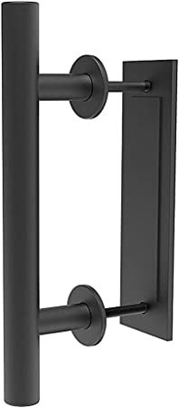 "12/"" Sliding Barn Door Handle With Latch Lock Heavy Duty Flush Pull Set /&"