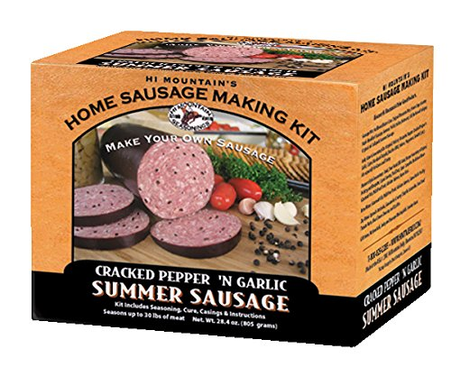 (Hi Mountain Jerky Cracked Pepper 'n Garlic Summer Sausage Kit)