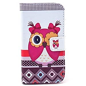 Beautiful Female Owl Pattern PU Leather Case Cover with Stand and Card Slot for Motorola MOTO X