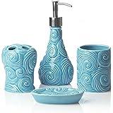 Amazon Com Blue Bathroom Accessory Sets Bathroom Accessories