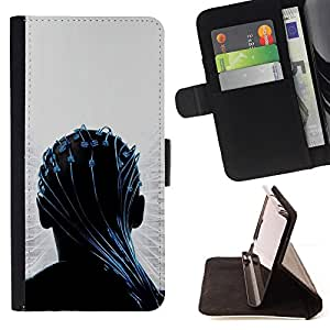 DEVIL CASE - FOR Sony Xperia m55w Z3 Compact Mini - Transendece - Style PU Leather Case Wallet Flip Stand Flap Closure Cover