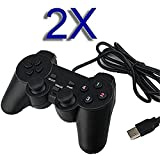 SQDeal 2 Pack USB GamePad Joypad Double Dual Shock Gaming Controller Joystick for PC Computer Laptop Windows [Video Game] Review